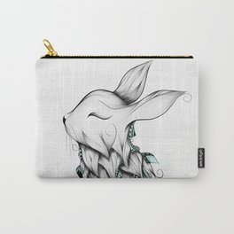 Poetic Rabbit Carry-All Pouch
