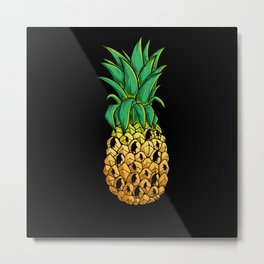 Pineapple Penguin Metal Print