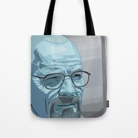walter white Tote Bags featuring Walter by Digital Sketch