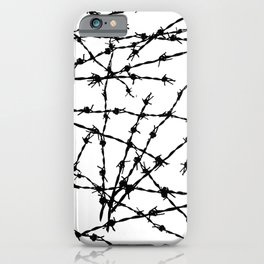 Black and White Barbed Wire iPhone Case