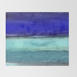 Midnight Waves Seascape Throw Blanket
