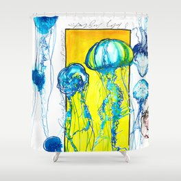 Blue jellys Shower Curtain