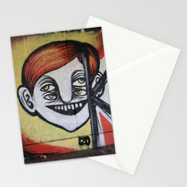 One face four eyes. Stationery Cards