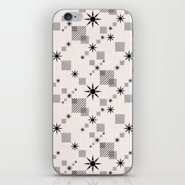 Abstract black pattern on a cream background iPhone Skin