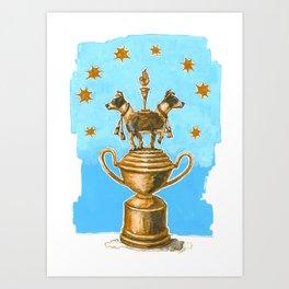 Dog Trophy 3 Art Print