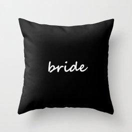Bride Black & White Throw Pillow