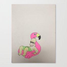 Floatin Flmaingo Canvas Print