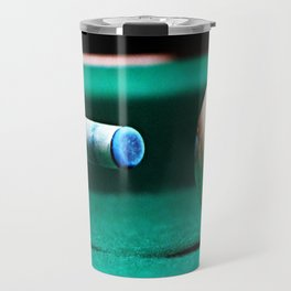 Pool Table-Green Travel Mug