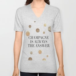 PRINTABLE Art,Champagne Is Always The Answer,But First Champagne,Drink Sign,Bar Decor Unisex V-Neck