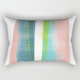 Colorful Geometric Abstract Minimalist Monotype 2 Rectangular Pillow