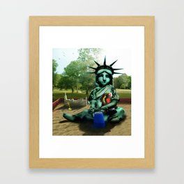 Little Liberty Framed Art Print