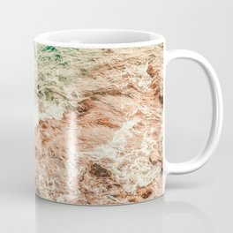 landscape of ocean and stone beach Coffee Mug