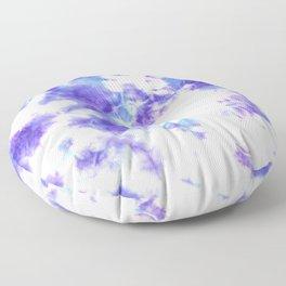 Purple and Blue Tie-Dye Spots Floor Pillow