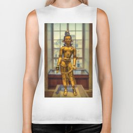 Golden Figurine Biker Tank