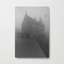 Dutch cheese-town in the mist Metal Print