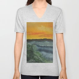 What lies beyond the valley Unisex V-Neck