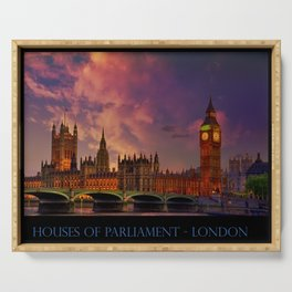 Houses of Parliament - London Serving Tray