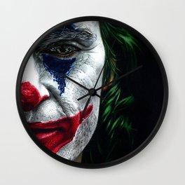 Joker Colored Pencil Drawing Wall Clock