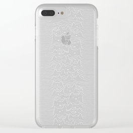 Joy Division Unknown Pleasures Clear iPhone Case