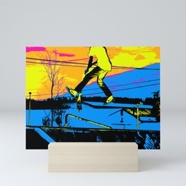 """Air Walking""  - Stunt Scooter Mini Art Print"