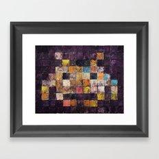 Purple Haze Invader Framed Art Print