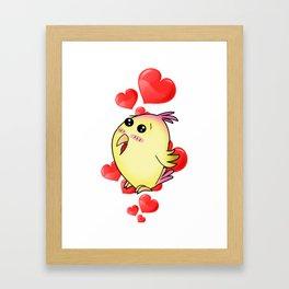 Cute Lovebird Framed Art Print