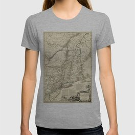 American Revolutionary War Map (1782) T-shirt