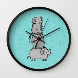 Elephant Totem Wall Clock