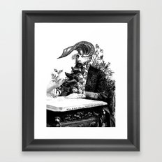 When I think about you, flowers grow out of my brain. Framed Art Print