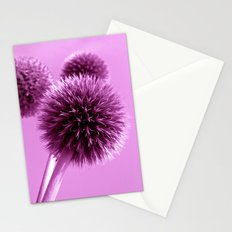 purple globe thistle II Stationery Cards