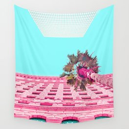 LA Palm Tree Look Up Wall Tapestry