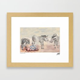 Michael's First Christmas, Nativity Framed Art Print