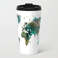 Map of the World tree Travel Mug