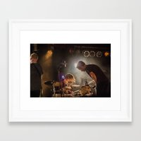la dispute Framed Art Prints featuring La Dispute by Ashton Garner