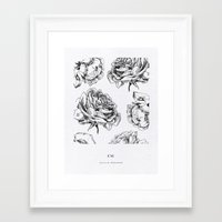 roses Framed Art Prints featuring Roses  by Caitlin Workman