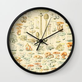 Mushrooms // Champignons III by Adolphe Millot XL 19th Century Science Textbook Diagram Artwork Wall Clock