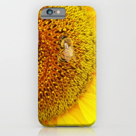 Bee on a Sunflower iPhone & iPod Case