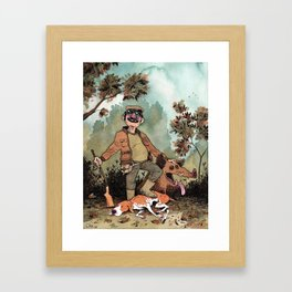 Hunter Framed Art Print