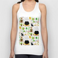 lab Tank Tops featuring Witch's lab by Ana Linea