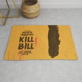 Kill Bill, Quentin Tarantino, minimal movie poster,  Uma Thurman, Lucy Liu, alternative film Rug