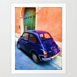 Blue Car Art Print