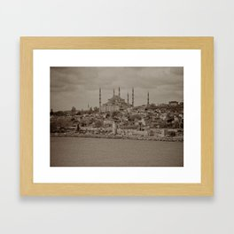 """Sultan Ahmed Mosque (""""Blue Mosque"""", Istanbul, TURKEY) from the Sea of Marmara Framed Art Print"""