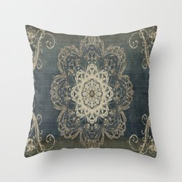 Arabesque Blue Throw Pillow
