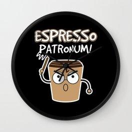 Espresso Patronum | Coffee Caffeine Wall Clock