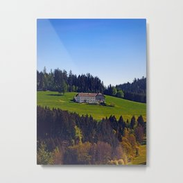 A farm, blue sky and some panorama | landscape photography Metal Print