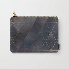 moody triangles 01 // golden & purple Carry-All Pouch