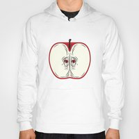anxiety Hoodies featuring Anxiety Apple by Nicholas Ely
