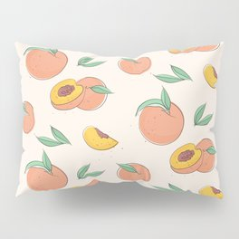 Peach with leaves Pillow Sham
