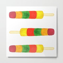 Colorful Ice Lolly Metal Print