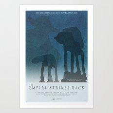 Empire Strikes Back Movie Poster Art Print